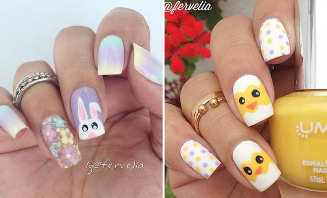 Instagram - 21 Easy And Simple Easter Nail Art Designs StayGlam
