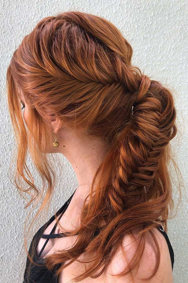 prom hairstyles ponytail braid fishtail stayglam gorgeous braids tail