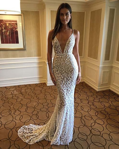 Simple Elegant 2015 Women Summer Wedding Dresses Flowing: 21 Stunning Wedding Dress Ideas For Beautiful Brides