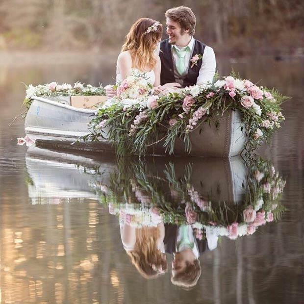 Boat Ride Spring Wedding Idea