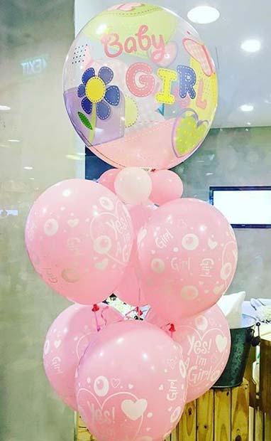 Baby Girl Balloons for Baby Shower