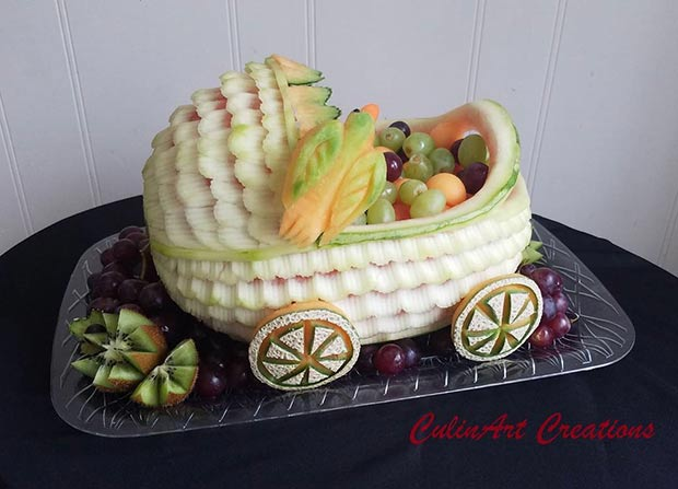 Fruit Carving for Baby Shower