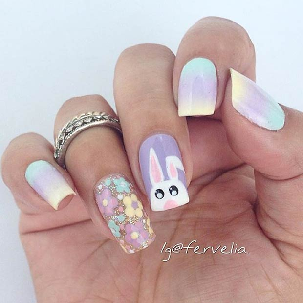 41 Easy And Simple Easter Nail Art Designs