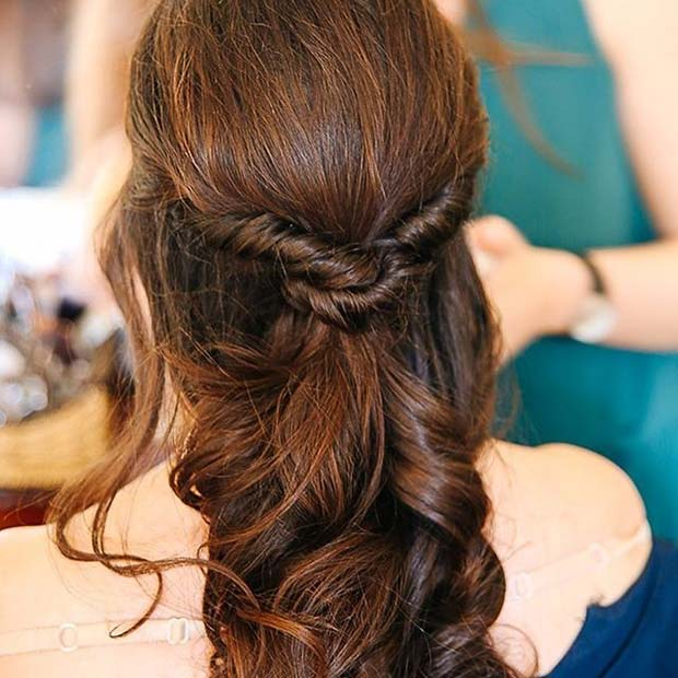 Half Up Half Down Twist Hair Prom Idea