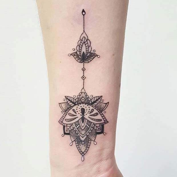 21 Trendy Mandala Tattoo Ideas For Women: 21 Stylish Wrist Tattoo Ideas For Women