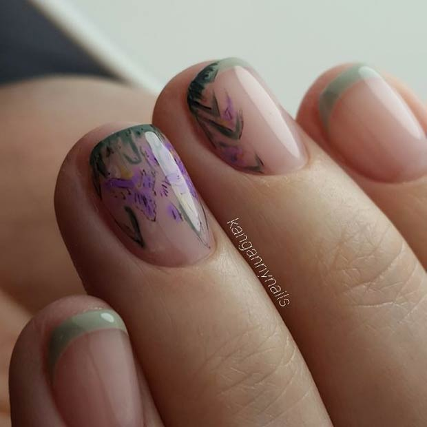 Spring Nail Art Design for Short Nails