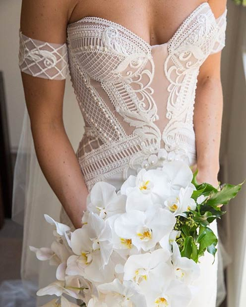White Wedding Dress Inspiration for Spring Wedding Ceremony