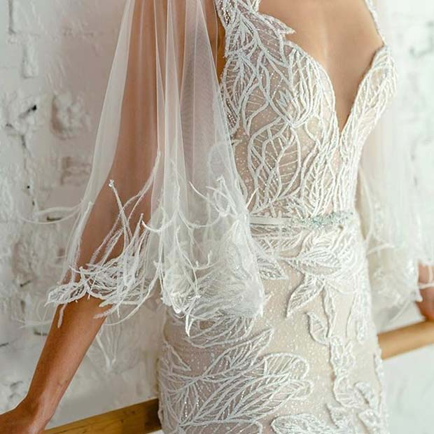 Floaty Sleeve Wedding Dress