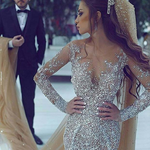 Sparkly Crystal Wedding Dress