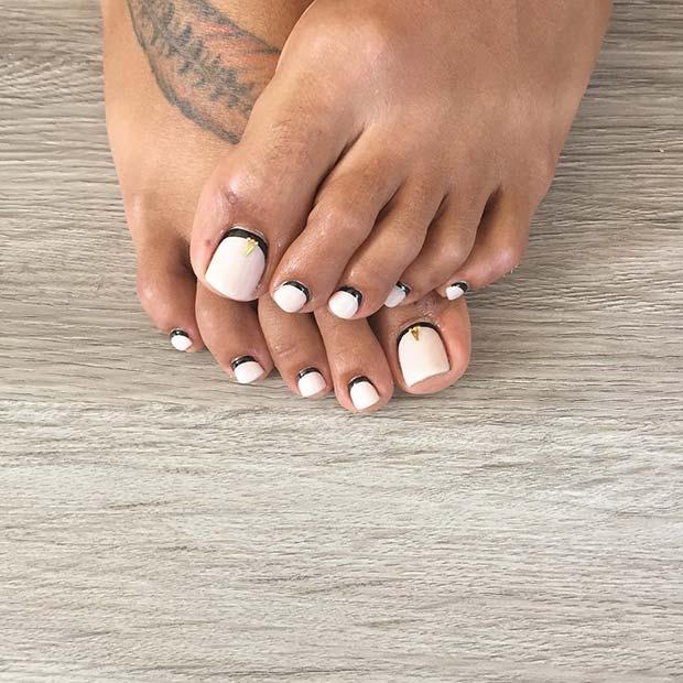 Simple and Elegant Toe Nail Design