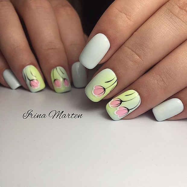 21 Gorgeous Floral Nail Designs for Spring | StayGlam
