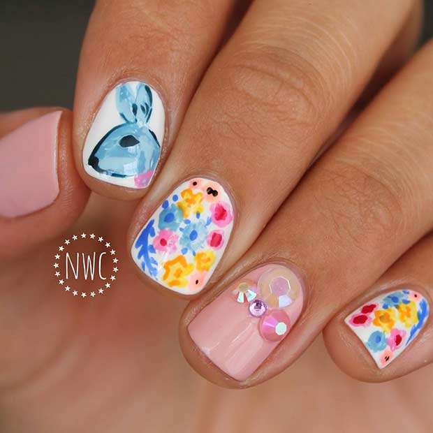21 Easy And Simple Easter Nail Art Designs
