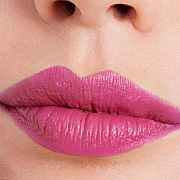 Bright Pink Lip Color for Spring Makeup Idea
