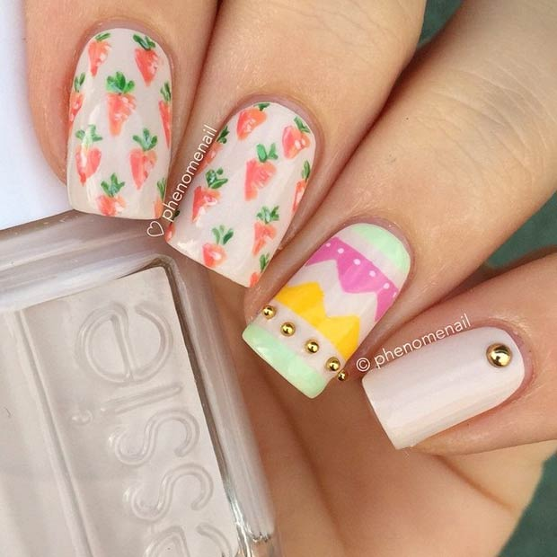 Easy Easter Nail Art: 41 Easy And Simple Easter Nail Art Designs