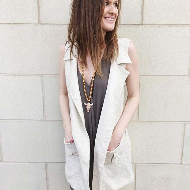 Light Vest for Spring 2017 Women's Outfit Idea
