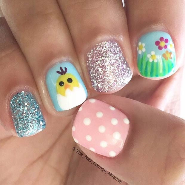 Easy Easter Nail Art: 21 Easy And Simple Easter Nail Art Designs