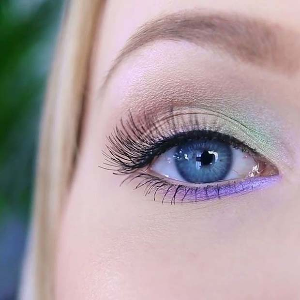 Pastel Eye Shadow Palette for Spring Makeup Idea
