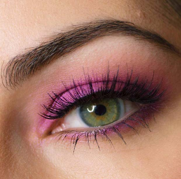 Pink Eye Shadow for Spring Makeup Idea
