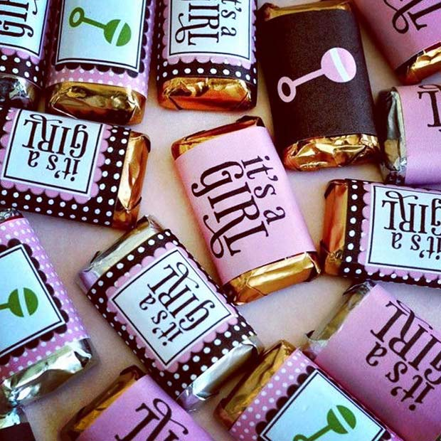 It's a Girl Chocolates for Baby Shower