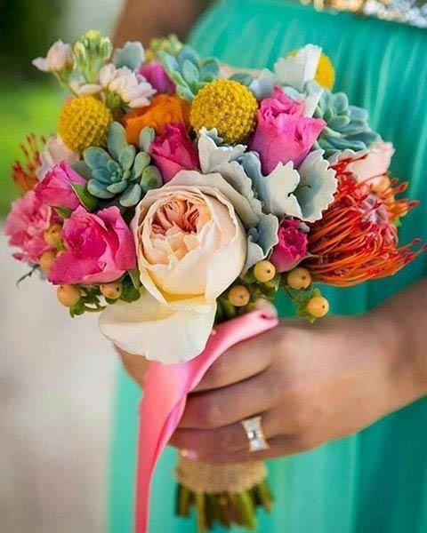 Spring Colorful Wedding Bouquet