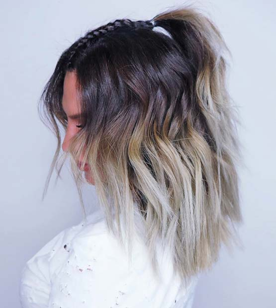 Blonde Braided Ombre for Brunettes
