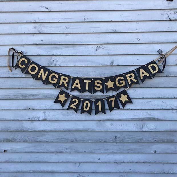 Congrats Grad Graduation Banner