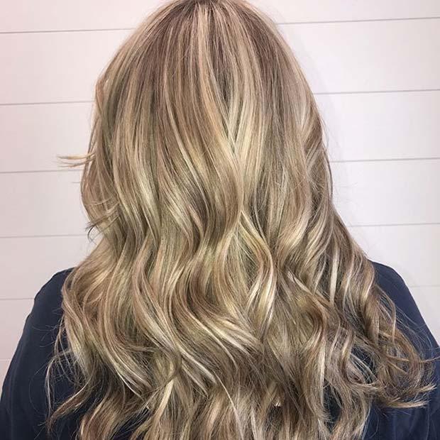 Dimensional Blonde Balayage