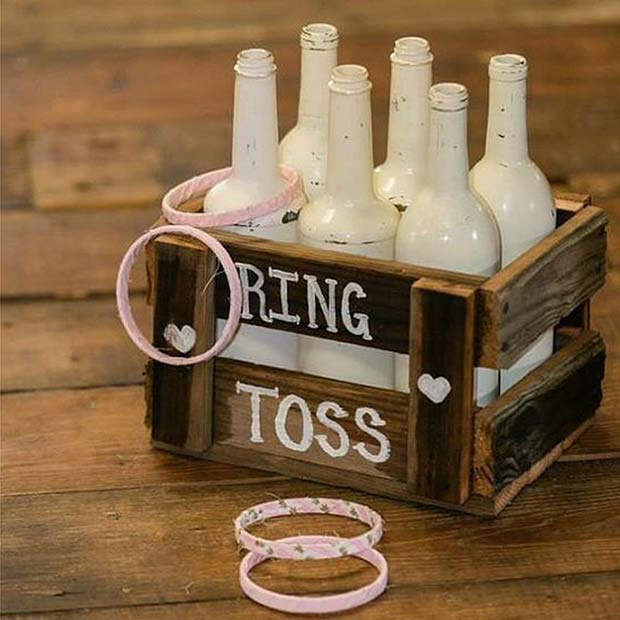 Ring Toss For Bridal Shower Game Idea