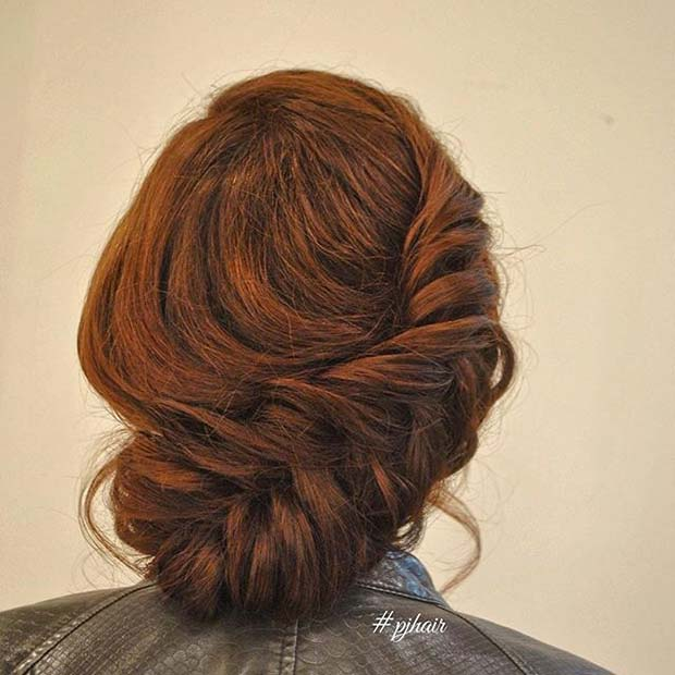 Big Side Fishtail Braid Updo for Prom