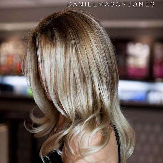 Light Highlighted Blonde Balayage
