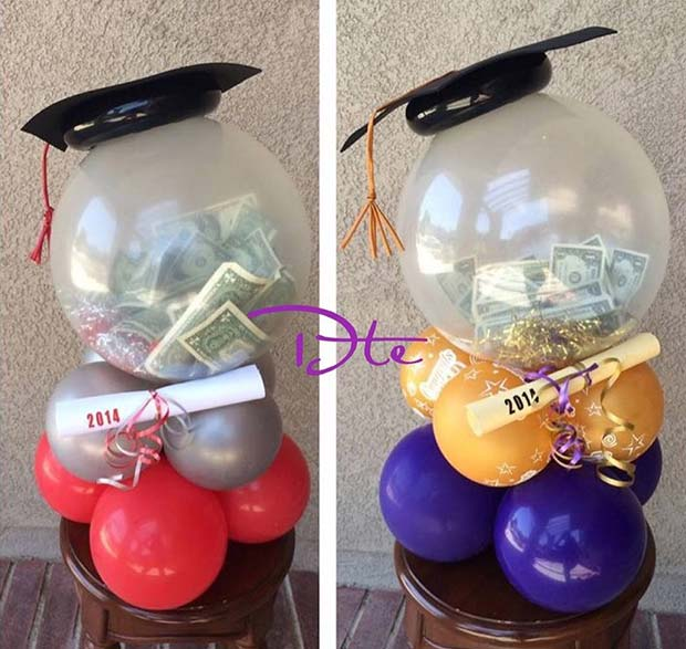 Graduation Balloon Centerpieces for Graduation Party Idea