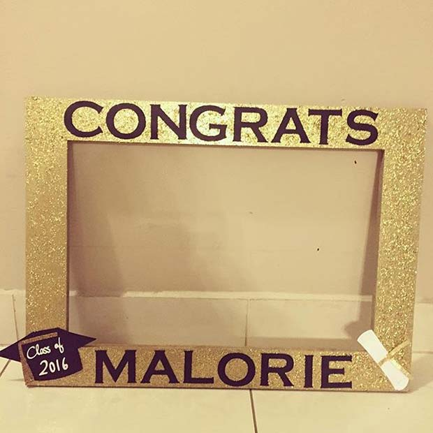 Photo Booth Frame for Graduation Party Idea
