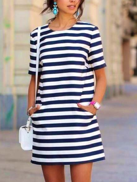 Chic Striped Dress for Summer