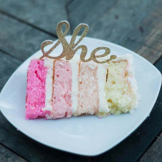 It's a Girl Pink Cake for Gender Reveal