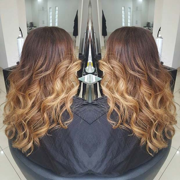 Warm Tone Ombre for Brunettes