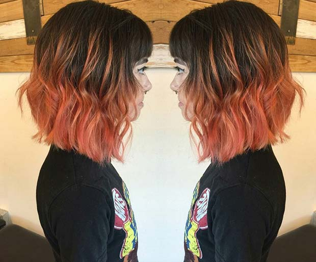 Peach Ombre for Brunettes