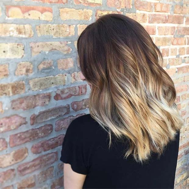 Blonde Beach Wave Ombre for Brunettes