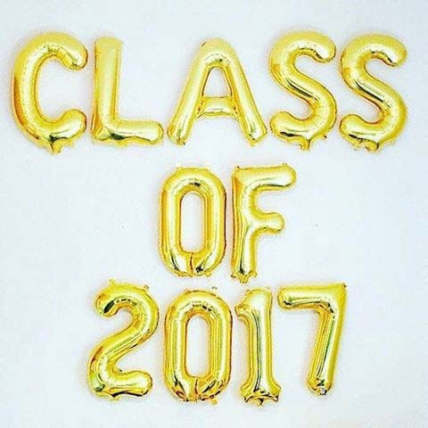 Class of 2017 Balloons Graduation Party Idea