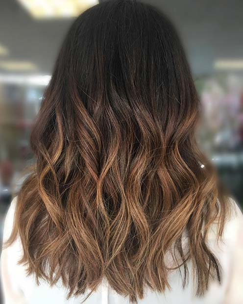 Caramel Ombre for Brunettes