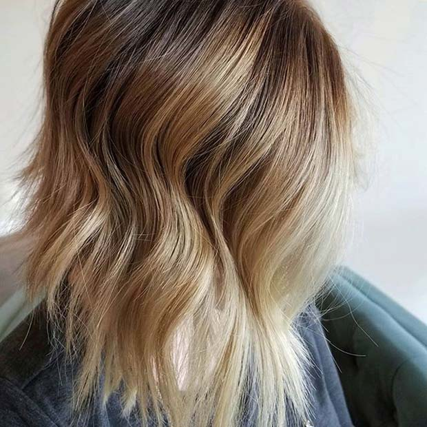 Warm Blonde Tousled Balyage