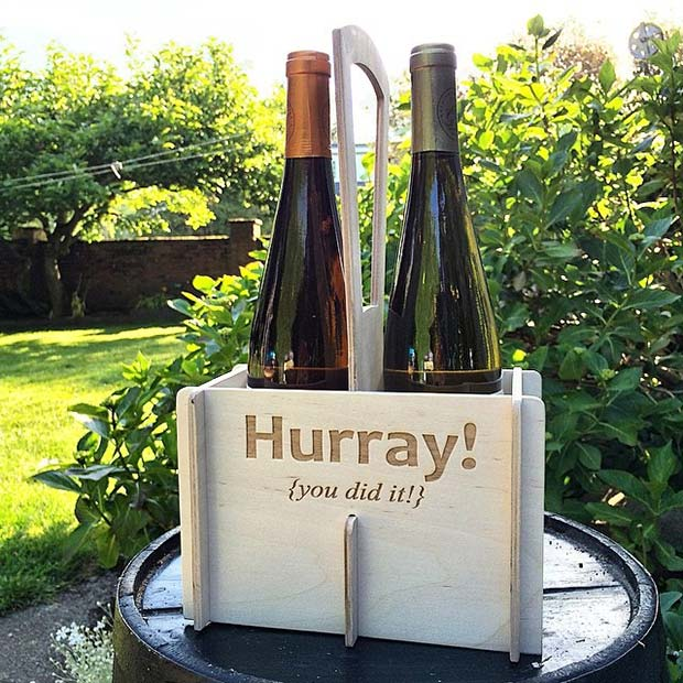 Wine Carrier Centerpiece or Gift Idea for Graduation Party