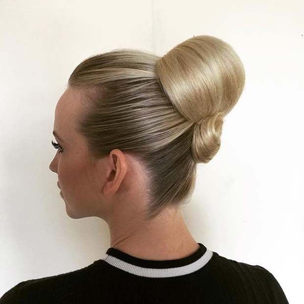 Sleek Bun Updo From Prom