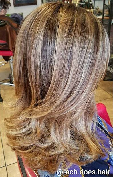 Blonde Balayage with Highlights