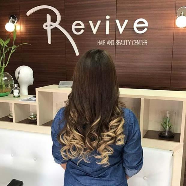 Blonde Ombre Curls for Brunettes