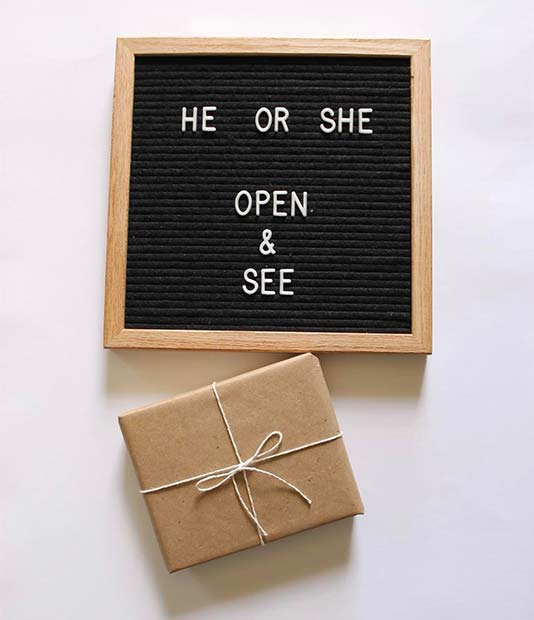 Gender Reveal Box Idea