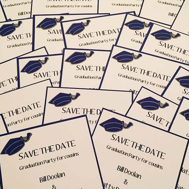 Graduation Theme Save the Date Cards for Graduation Party