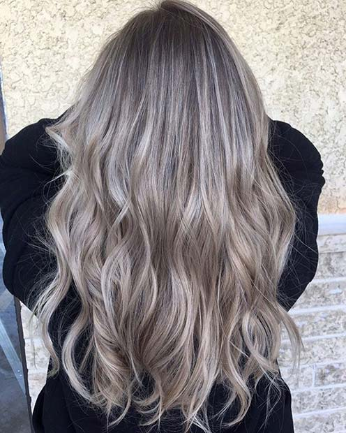 Ash Blonde Color Balayage