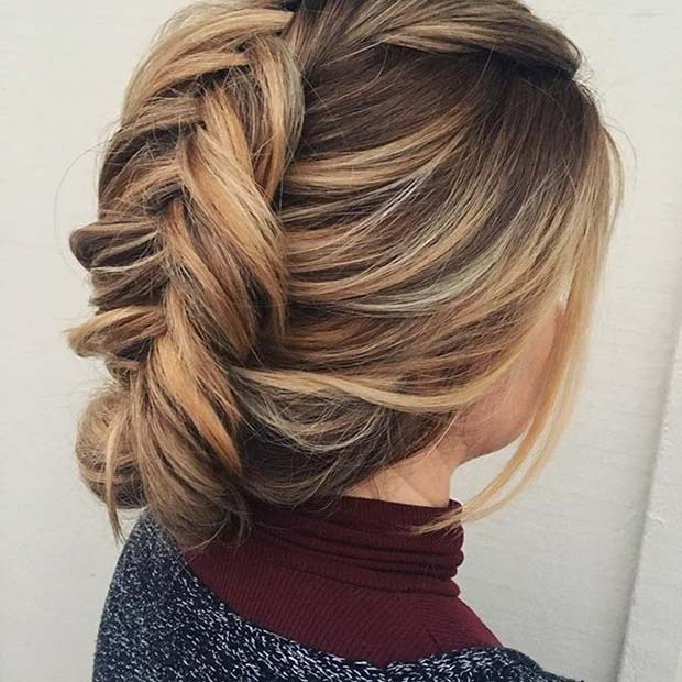 Fishtail Updo for Prom