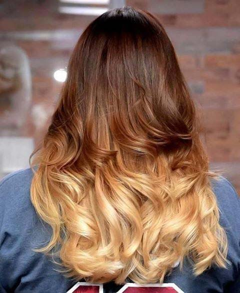 Warm Blonde and Brunette Ombre