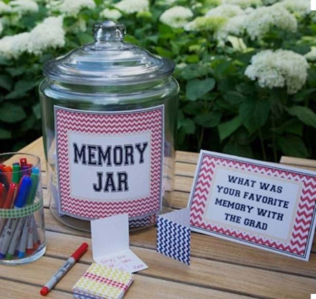 Memory Jar Idea for Graduation Party